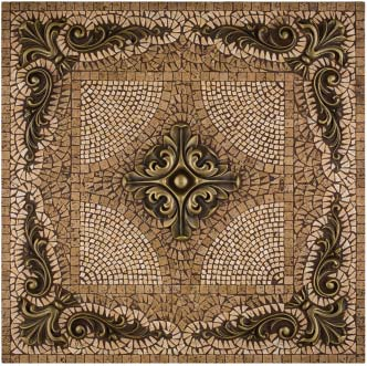 Metal Mural Grand Rachel Mosaic Tile Backsplash By